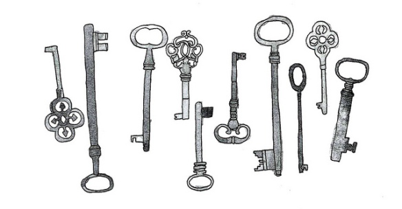 black-and-white-drawing-keys-vintage-keys-Favim.com-452609