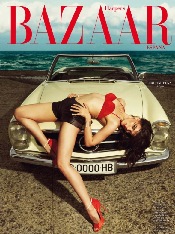 LA ESCAPADA,CRYSTAL RENN BY NICO FOR HARPER'S BAZAAR SPAIN JULY AUGUST 2013