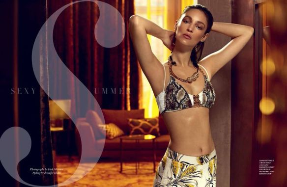 Sexy Summer | Franzi Müller by Dirk Messner For Harpers Bazaar Singapore | August 2013 .4