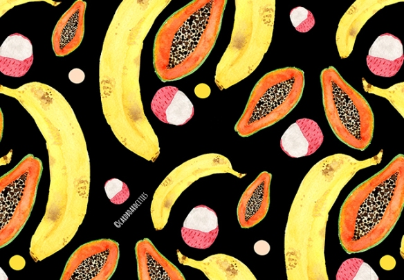 tropical-juice-pattern-in-black-by-laura-redburn