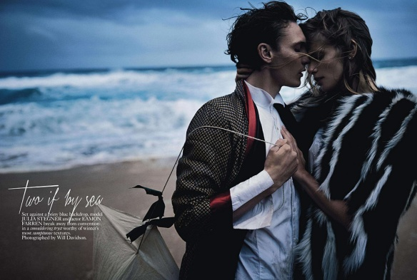 Two If By Sea  Julia Stegner & Eamon Farren By Will Davidson For Vogue Australia  August 2013 .1