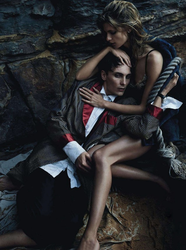 Two If By Sea  Julia Stegner & Eamon Farren By Will Davidson For Vogue Australia  August 2013.2