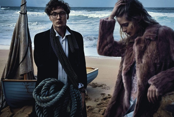 Two If By Sea  Julia Stegner & Eamon Farren By Will Davidson For Vogue Australia  August 2013.6