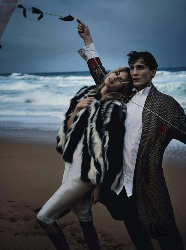Two If By Sea  Julia Stegner & Eamon Farren By Will Davidson For Vogue Australia  August 2013.8