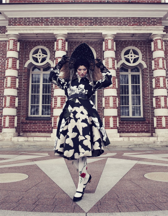 The Anastasia Of Winter Lindsey Wixson By Emma Summerton For Vogue Japan December.10