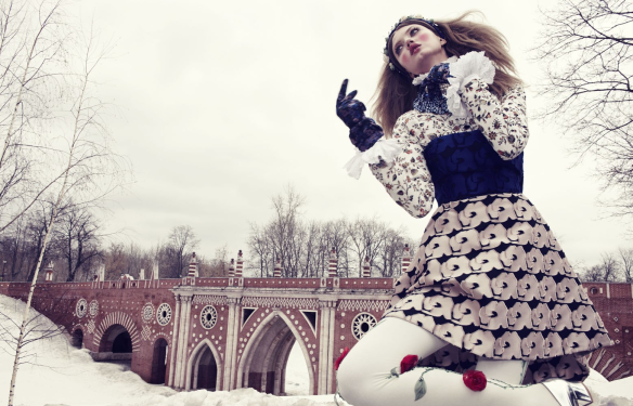 The Anastasia Of Winter Lindsey Wixson By Emma Summerton For Vogue Japan December.13