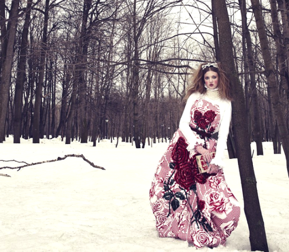 The Anastasia Of Winter Lindsey Wixson By Emma Summerton For Vogue Japan December 2013.1
