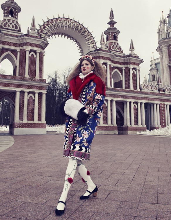 The Anastasia Of Winter Lindsey Wixson By Emma Summerton For Vogue Japan December.8
